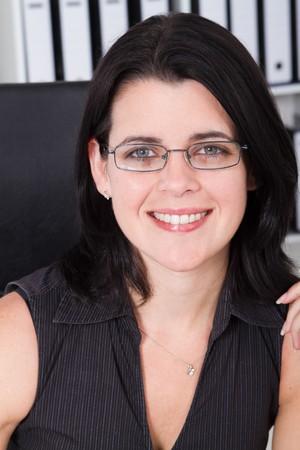 close-up of pretty businesswoman Stock Photo - 7642624