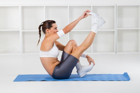 fitness woman stretching Stock Photo - 7639028