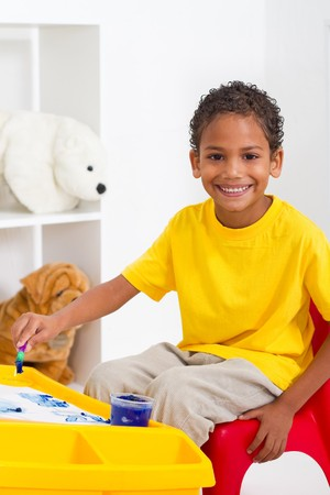 indian preschool boy photo