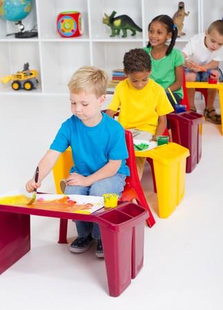 preescolar: ni�os de edad preescolares  Foto de archivo