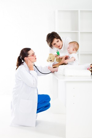 doctor toys: checkup Stock Photo
