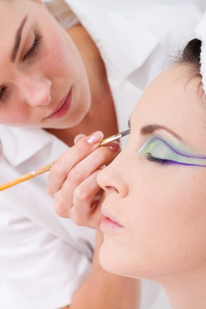 model having eye make up done Stock Photo - 7871451