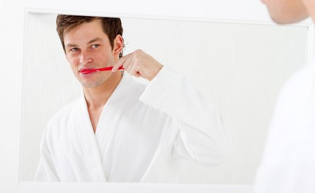 minty: oral care Stock Photo
