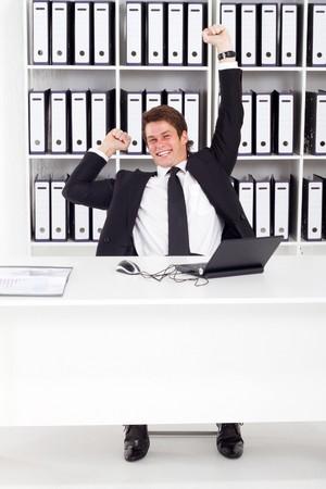 Happy Businessman Sieg Standard-Bild - 7881967