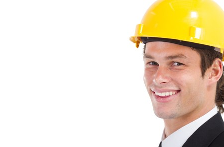 portrait of happy young construction businessman photo
