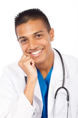 portrait of happy indian doctor photo
