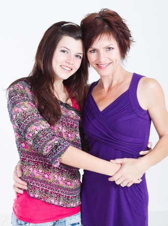 happy mother and daughter Stock Photo - 7940118