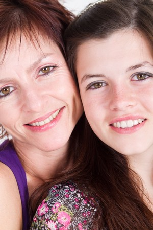 close-up of beautiful mother and daughter Stock Photo - 7940119