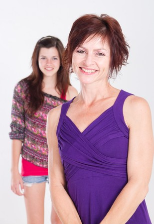 beautiful mom with daughter in background Stock Photo - 7940101