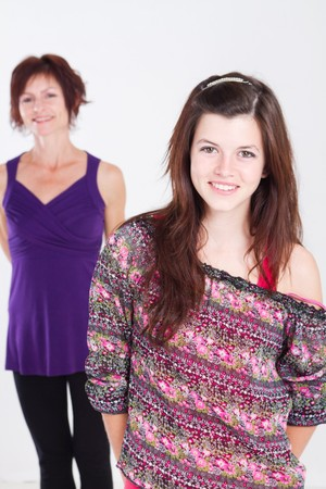 pretty teen girl with mother in background Stock Photo - 7940053