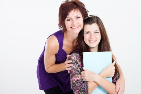 mid teens: smart mother and daughter