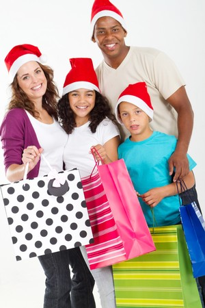 family doing christmas shopping photo