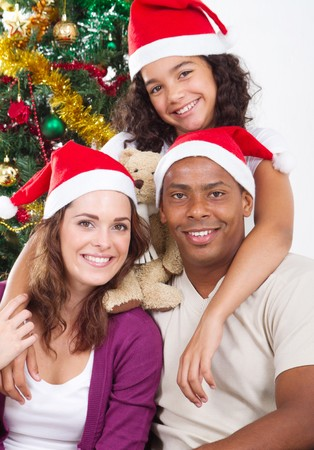 happy young christmas family Stock Photo - 8112124
