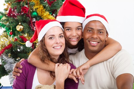 happy family under christmas tree Stock Photo - 8112174