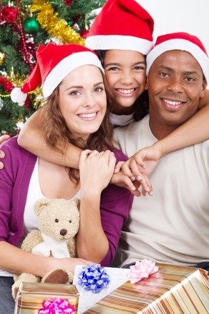happy young family around christmas tree Stock Photo - 8112039