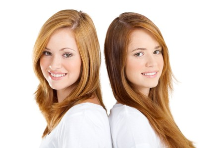 close-up of pretty young sisters Stock Photo - 8112291