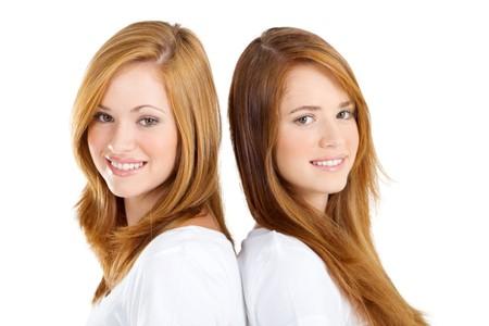 close-up of pretty young sisters Banco de Imagens