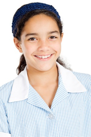 close-up portrait of junior high student Stock Photo - 8196959