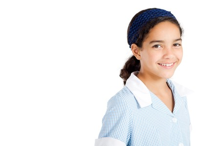 high school girl: happy elementary school student Stock Photo