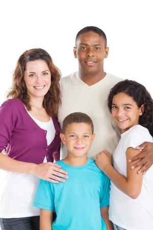 interracial family: happy young family Stock Photo