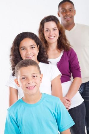 interracial family: happy mixed-race family