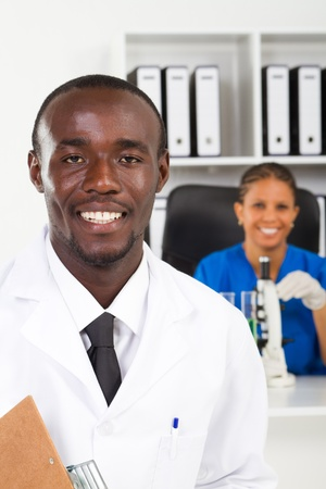 african american science workers Stock Photo - 8306662
