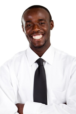 happy young african businessman photo