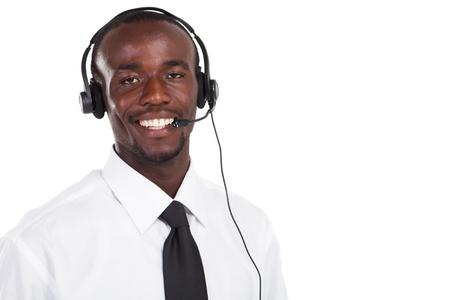african male telephone operator photo
