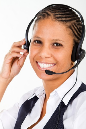 close-up of friendly telephone operator Stock Photo - 8306672
