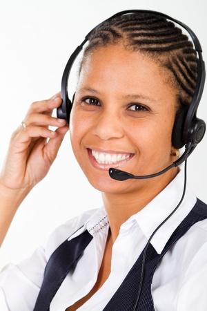 close-up of friendly telephone operator Stock Photo - 8306672