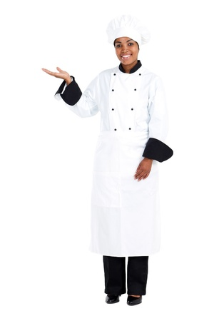 full face: african american female chef