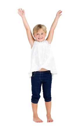 happy girl with outstretched arms Stock Photo - 8989313