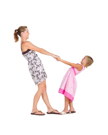 playful mother and daughter Stock Photo - 8989307