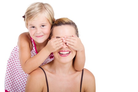 loving mother and daughter playing together Stock Photo - 8989646
