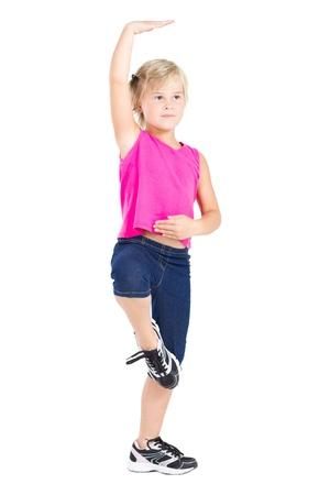 spunky: cute girl dancing