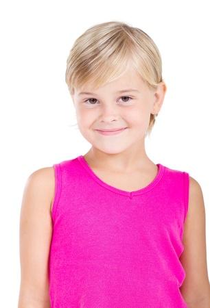 happy little girl photo