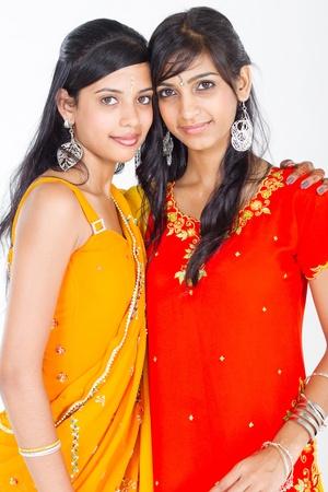 traditonal indian sisters photo