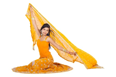 indian woman wearing traditional dress photo