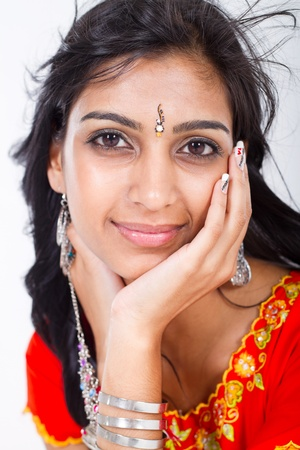 close-up of pretty indian woman photo