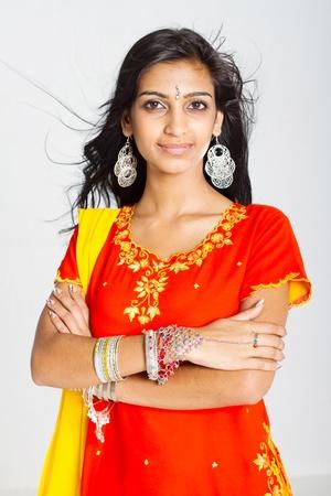 sari: confident young indian woman