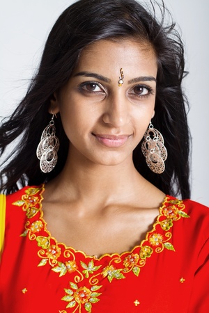portrait of young indian lady photo