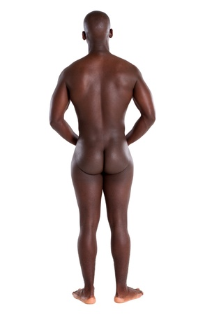 back view of naked african man Stock Photo - 9091779