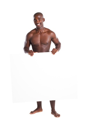 man looking out: african man wearing boxers
