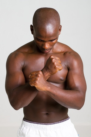 strong african man photo