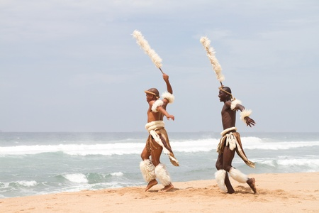 african dancers on beach Stock Photo - 9091726