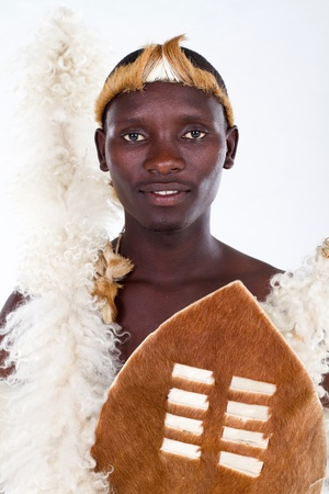 portrait of traditional zulu man photo
