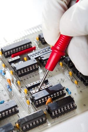 engineer repairing computer hardware Stock Photo - 9091735