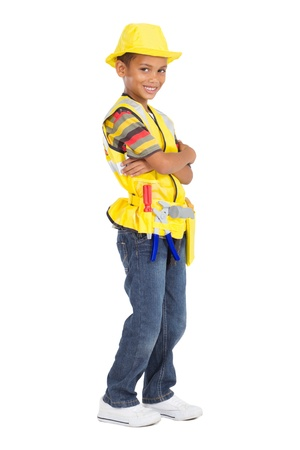 little boy as construction worker Stock Photo - 9168951