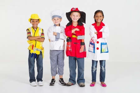 group of little workers in uniform Stock Photo - 9169019