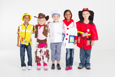 group of children dressing in various uniforms Stock Photo - 9187815
